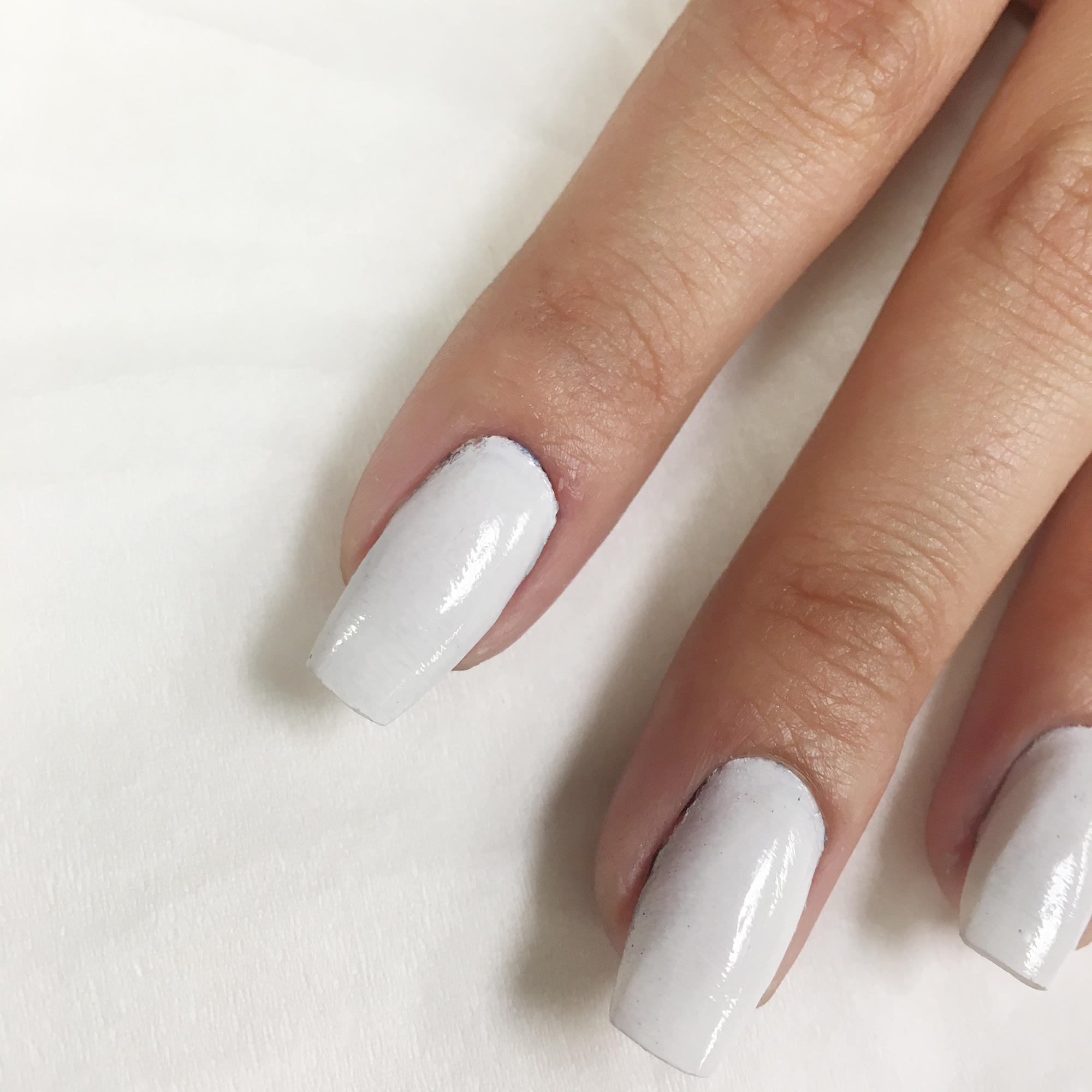 Step 1 Spray Your Nails White With Dinair Fantasy And Add A Clear Gel Polish Or Regular Top Coat Let Dry Machine